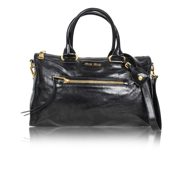 9b0ba249d5c Bauletto Vitello Shine Bag by MIU MIU   StyleTribute.com