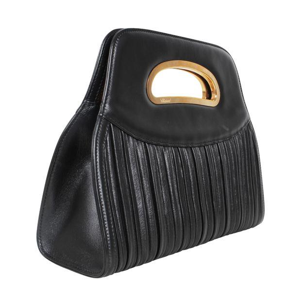 d442c8b644b Black Mini Bag With Gold Hardware by CHOPARD   StyleTribute.com