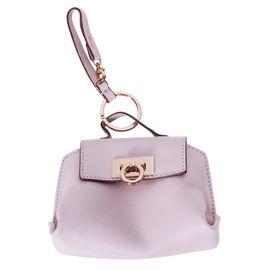 Pink Bag Charm Key Holder by SALVATORE FERRAGAMO  621d734da5607