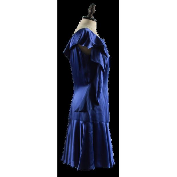 Karen Millen Satin Dress by KAREN MILLEN | StyleTribute.com
