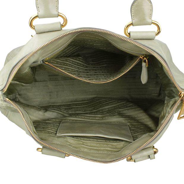 PRADA Green Calfskin leather Tote Bag 4 thumbnail 666d2a667a758