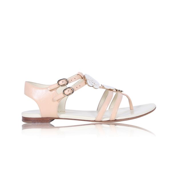 a9fc64ccd617 Camellia Crumpled Thong Sandal by CHANEL