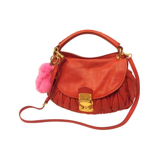 Rosso Aviator Matelasse Bag by MIU MIU   StyleTribute.com 00f21678f1