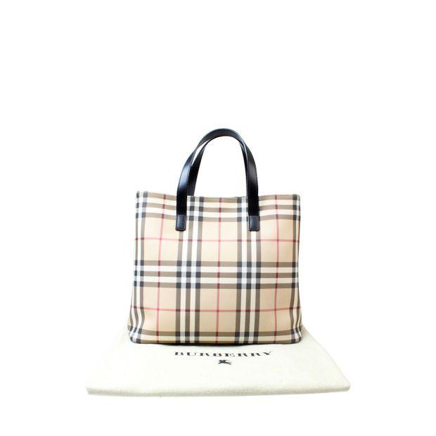 Burberry Nova Check Small Tote Bag