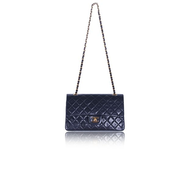 Vintage Small Black Quilted Classic Flap Bag by CHANEL ... d37b16b91d