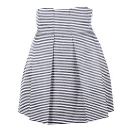Black White and Gold Striped Skater Skirt by EMPORIO ARMANI ... 091ff16ed
