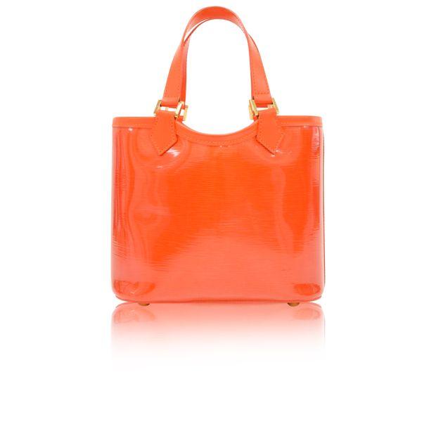 LOUIS VUITTON Plage Lagoon Red Orange Vinyl Mini Beach Tote Handbag ... 064940d0a3ea3
