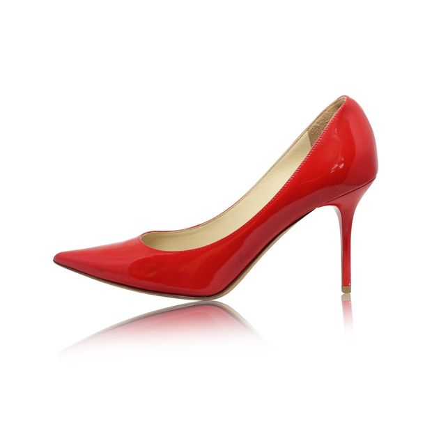 4993494bf1 ... italy jimmy choo lipstick red pointed toe pumps 57361 fae81