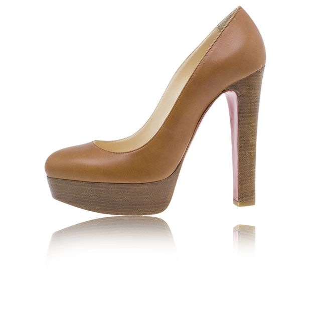 de277c7fa235 ... hot christian louboutin brown leather bibi platform pumps c684d 42960