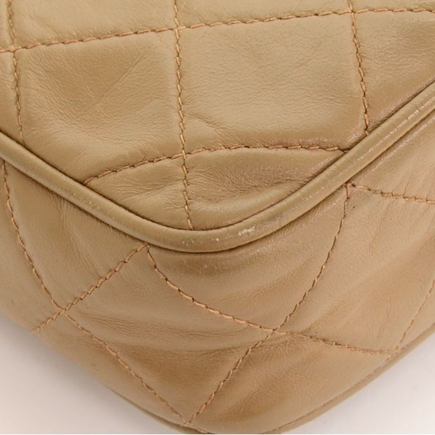CHANEL Vintage Brown Quilted Leather Fringe Mini Clutch Bag 10 thumbnail 78e41f08ca