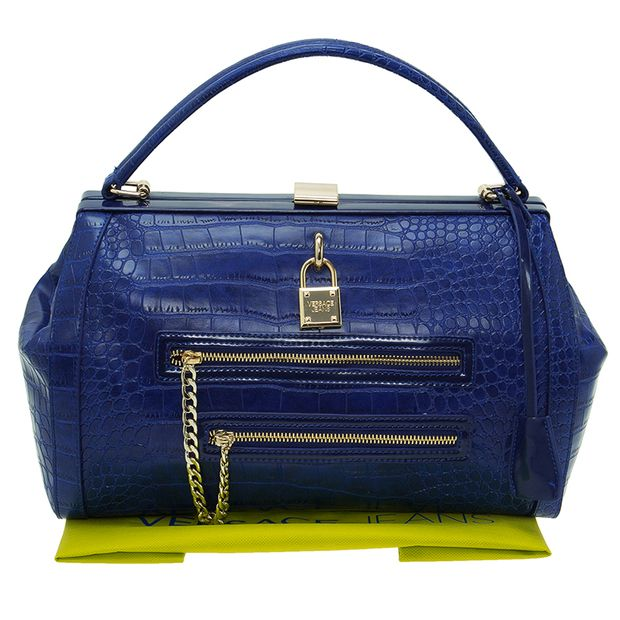 Croc Embossed Bowling Bag by VERSACE JEANS   StyleTribute.com 8fb79d3bb0