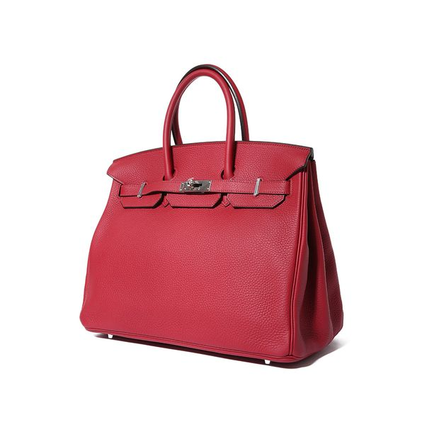0f07c87bcc8 Birkin 35 Togo Leather Brick Red Color PHW by HERMÈS   StyleTribute.com