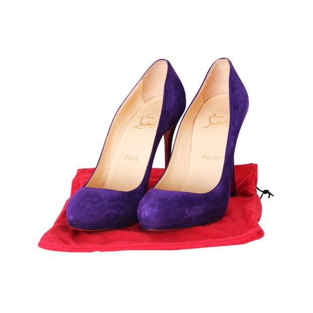 CHRISTIAN LOUBOUTIN Purple Suede Pumps 1 thumbnail 44564e0ff