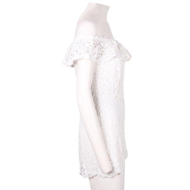 1306e638561 SANDRO White Lace Jumpsuit with Bateau Neck 3 thumbnail