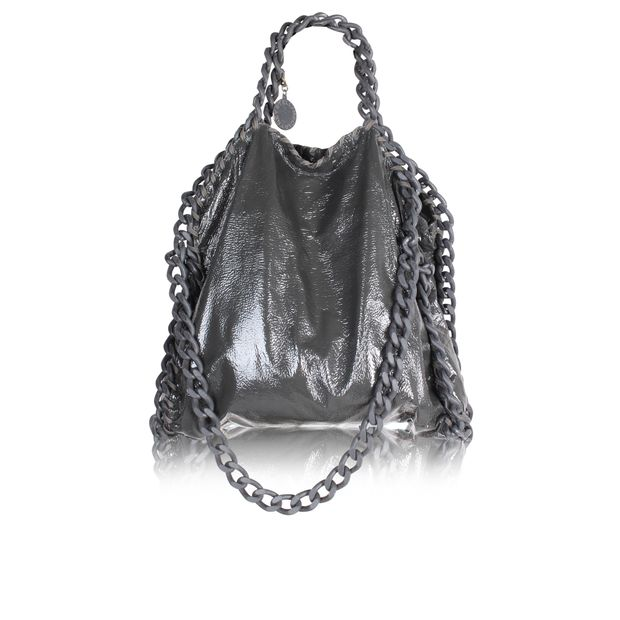 STELLA MCCARTNEY Falabella in patent Crinkled Grey, Limited Edition ... a6ce906e98