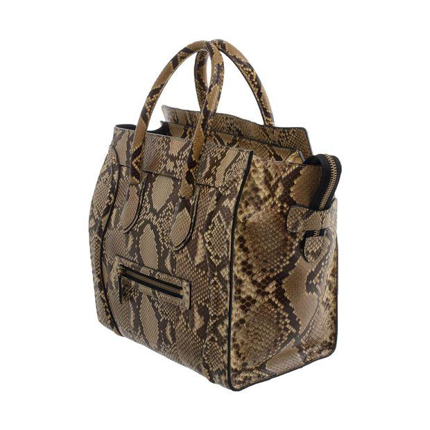 e09b1d9f6ab8 Phyton Skin Medium Luggage Tote by CÉLINE