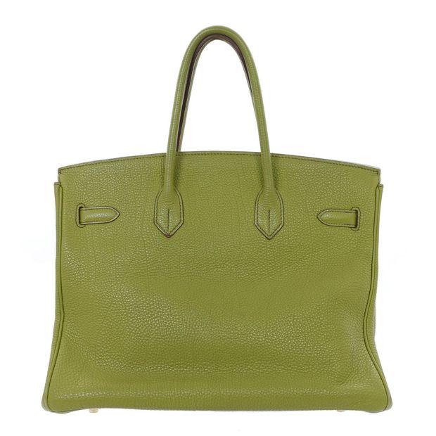 HERMÈS Lime Green Togo 35cm Birkin Bag 2 thumbnail ff2d58c0b