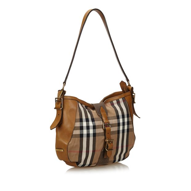 BURBERRY Plaid Jacquard Shoulder Bag 1 thumbnail 7897d8989ddf1