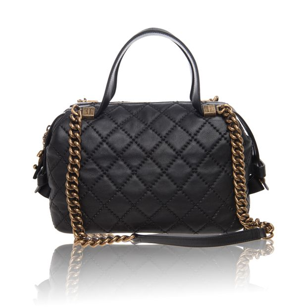 Quilted Leather Bowler Bag with Gold Hardware Chain by CHANEL ... f99ff7b6452