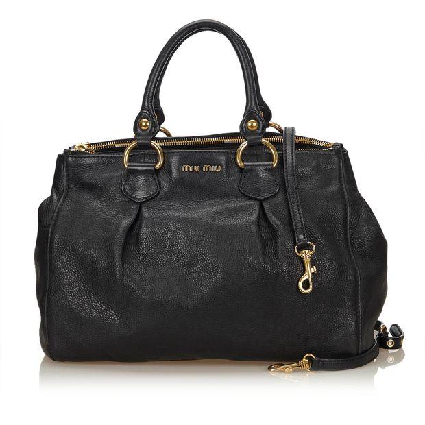 44575d440bc Leather 2 Way Bag by MIU MIU   StyleTribute.com