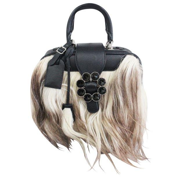 b7035d58bfa8 LOUIS VUITTON Top Handle Bags Louis Vuitton leather and goat hand bag 0  thumbnail