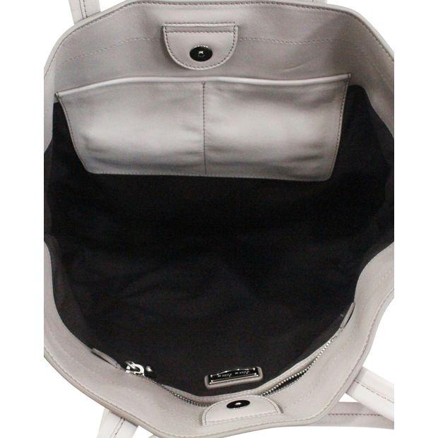 MIU MIU Prada Vitello Soft Argilla Grey Calfskin Leather Tote 4 thumbnail 6a7bcccaecb60