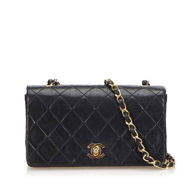 Matelasse Leather Flap Bag by CHANEL  208e76efa33