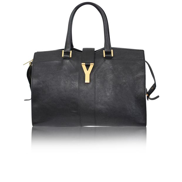 Black Chyc Cabas by YVES SAINT LAURENT   StyleTribute.com a957b04b39