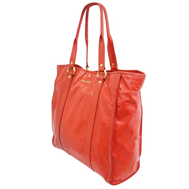 MIU MIU Red Patent Tote 1 thumbnail b753b319b1a26