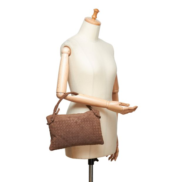 5ed769749ab Intrecciato Suede Handbag by BOTTEGA VENETA   StyleTribute.com