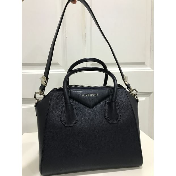 96711e15f207 Small Antigona Tote Bag in Navy Blue Grained Leather by GIVENCHY ...
