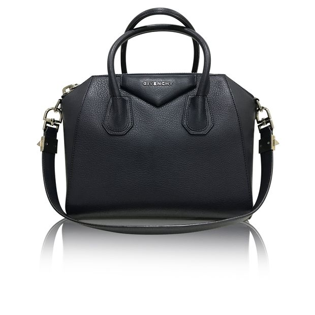 e2eb89868b Small Antigona Tote Bag in Navy Blue Grained Leather by GIVENCHY ...