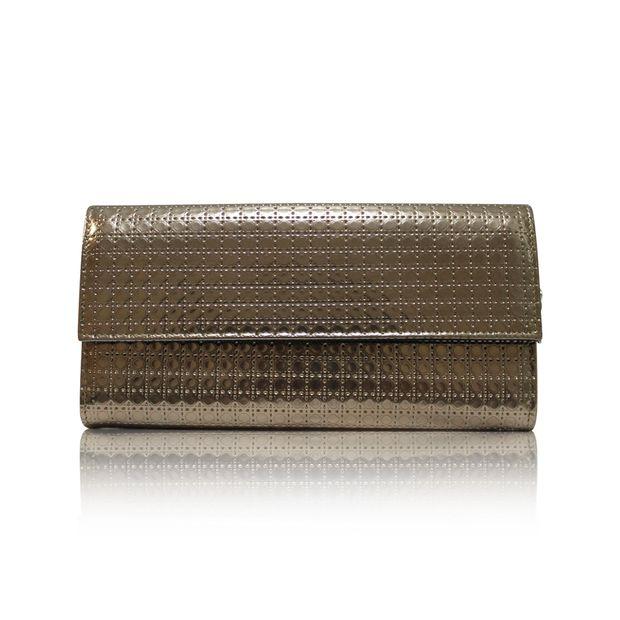 9360d1bc6f3a DIOR Lady Dior Clutch Bag In Metallic Champagne 0 thumbnail