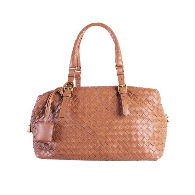 Montaigne Bag In Intrecciato Brown Leater by BOTTEGA VENETA ... 827b0aeb8f