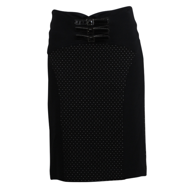 Black Polka dots Skirt with belt by EMPORIO ARMANI  3803c6c0e