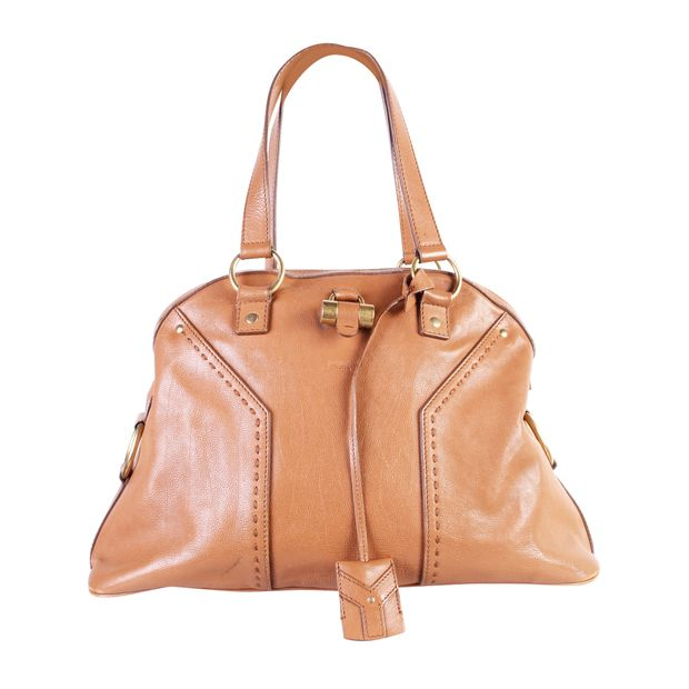 Small Muse Bag In Brown by YVES SAINT LAURENT   StyleTribute.com 5a81b837d5
