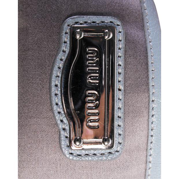 Grey Blue Leather Bag by MIU MIU  5db867e3da32a