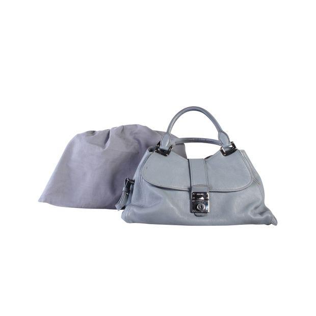MIU MIU Grey Blue Leather Bag 5 thumbnail 22780a45e3af2