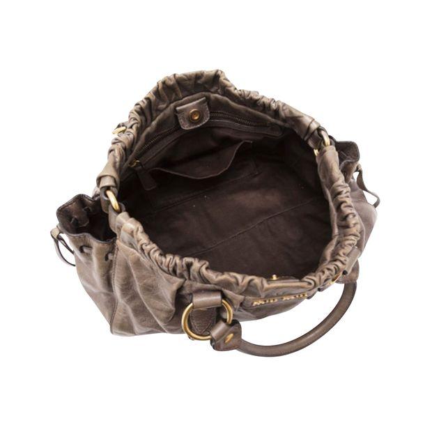 MIU MIU Vitello Lux Bag In Taupe 3 thumbnail 087df85e66152