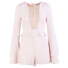 97fda1d7517 FOR LOVE   LEMONS Pastel Pink With Lace Details Romper