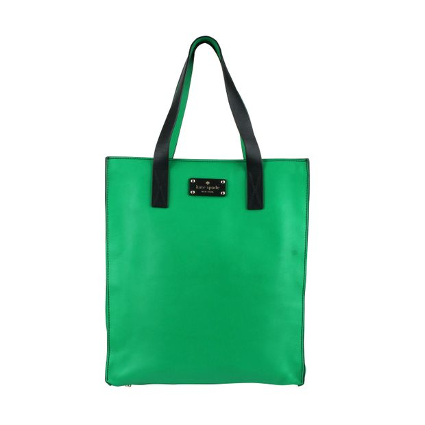 Kate Spade Kelly Green Leather Tote