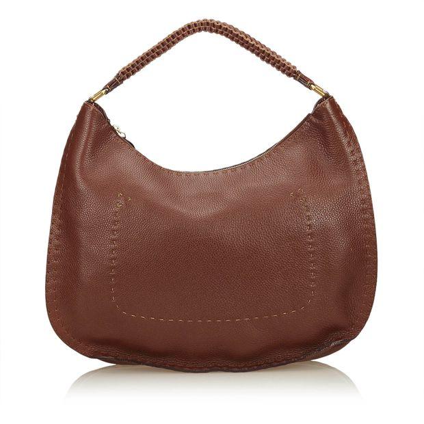 78788b4148 ... usa fendi leather selleria hobo bag d3433 9d5b4