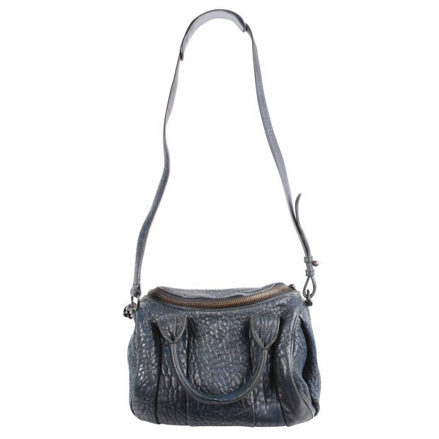 Alexander Small Rocco Bag In Navy Lather