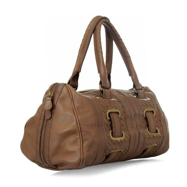 c8e9d90e23c Embossed Trim Woven Bag by BOTTEGA VENETA   StyleTribute.com