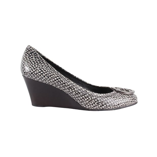 7bbf3ecfcfdb Chelsea Python-Embossed Wedges by TORY BURCH   StyleTribute.com