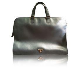 c18ecd3e9b08 Saffiano Travel Vr0023 Laptop Bag by PRADA