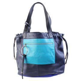 c338dc518b3 Black Leather Men s Sling Bag by VERSACE   StyleTribute.com