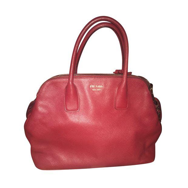 Prada Saffiano Cuir Triple Zip Dome Leather Tote by PRADA ... 09e28ab251