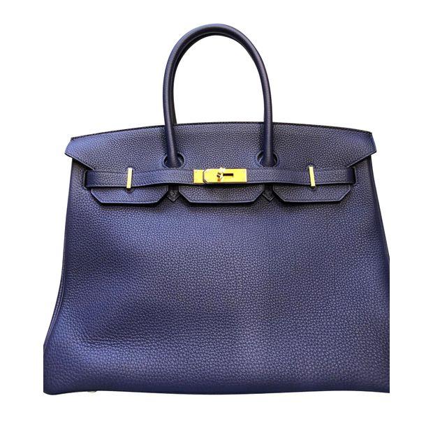 bf09549ab681 Hermes Birkin 35 Bleu Encre 2018 by HERMÈS   StyleTribute.com