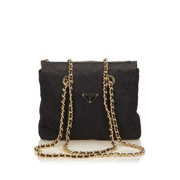 Quilted Nylon Chain Tote Bag by PRADA   StyleTribute.com e254706ee1